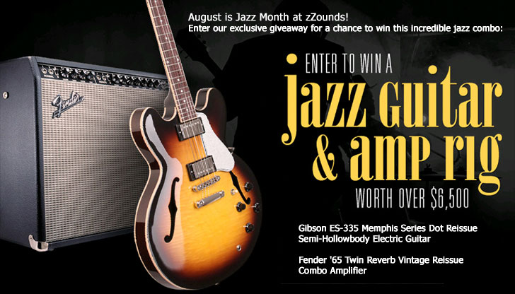 August is Jazz Month at zZounds! Enter our exclusive giveaway for a chance to win this incredible jazz combo
