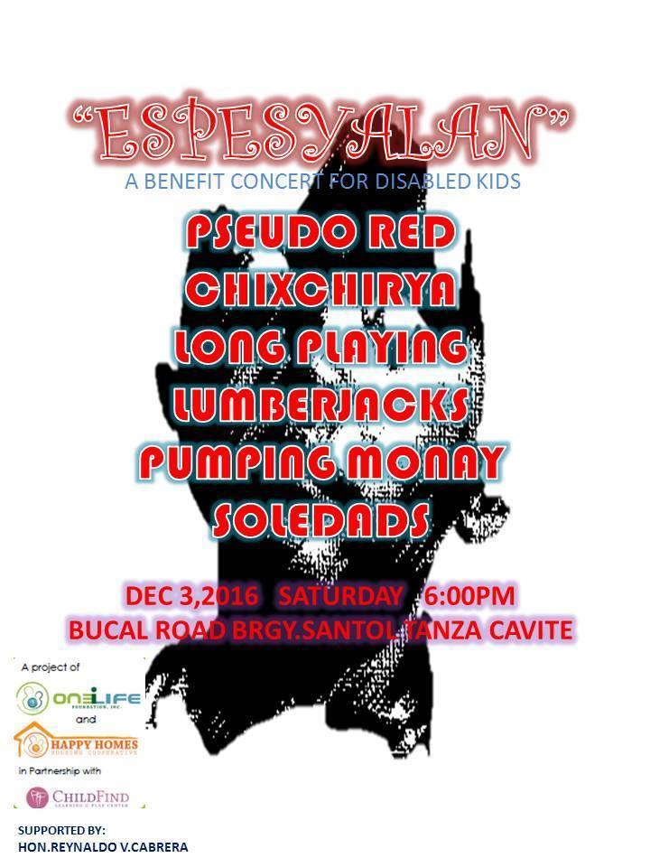 """ESPESYALAN"" a benefit concert for disabled kids"