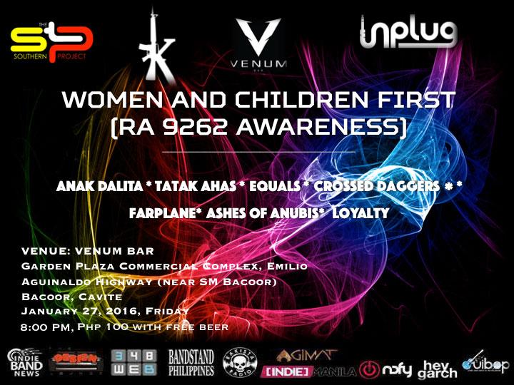 Women And Children First (RA.9262 Awareness)