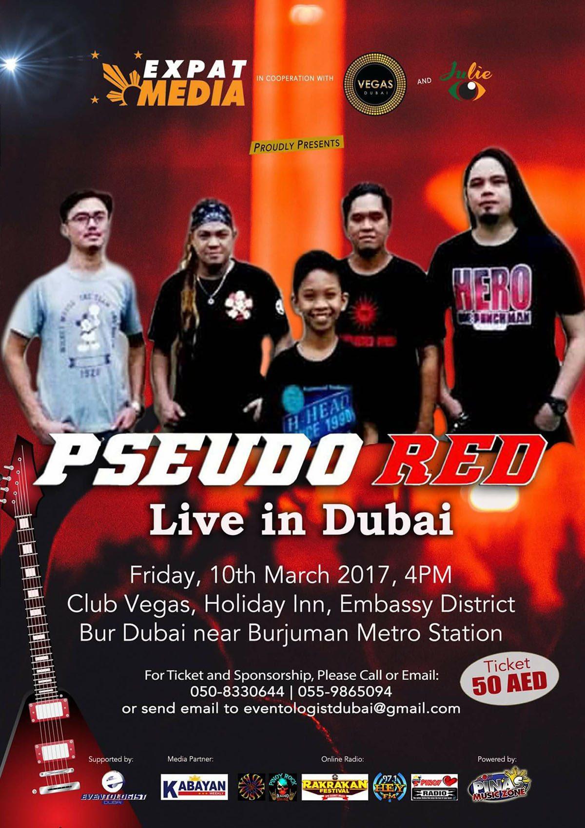 Pseudo RED – Live in Dubai