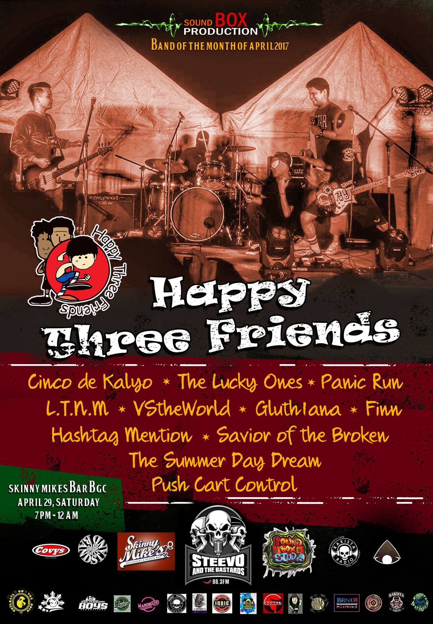 Happy Three Friends – Sound Box Band of the Month – April 2017