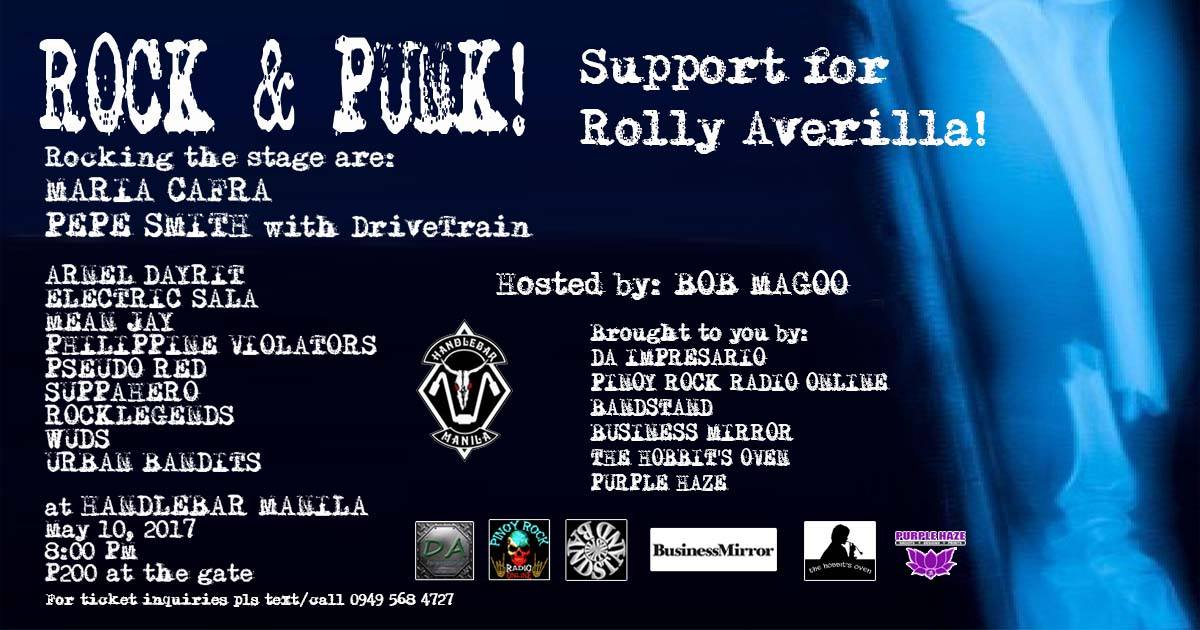 Rock & Punk! Support for Rolly Averilla!